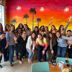 South Florida Mom Bloggers December Meetup Group Photo