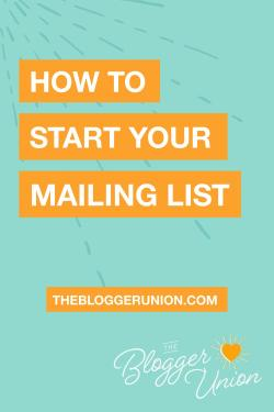 how to start your mailing list or newsletter using pinterest
