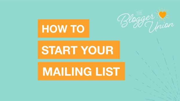 How to start your mailing list or newsletter
