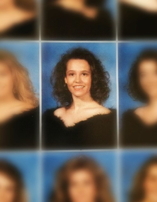 Me in the 90's.  My hair was actually very small for Texas.