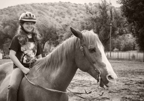 Hailey and her horse.  Hopefully neither of them have rickets.