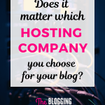 Does it Matter Which Hosting Company You Choose?