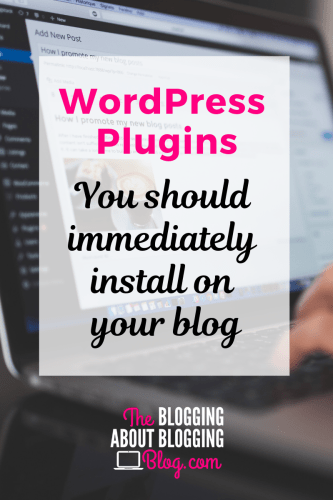 Essential WordPress plugins for new blogs and websites | TheBloggingAboutBloggingBlog.com #startablog #bloggingforbeginners #bloggingtips #blogging