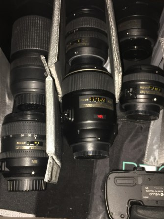 Lenses with padding for protection, speedlights,