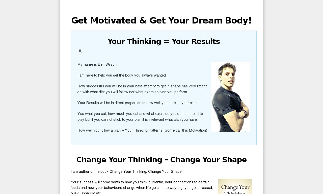 A Review Of Change Your Thinking Change Your Shape