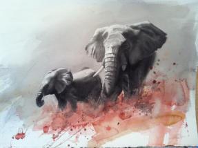 "Ivory - a sad story"" 30x22"" - Gunnar Tryggmo"