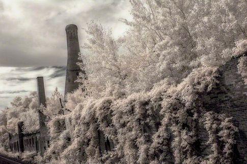 Westmorland Glass Factory – Infrared, Grapeville, Pennsylvania ©2014 Robert Marsala