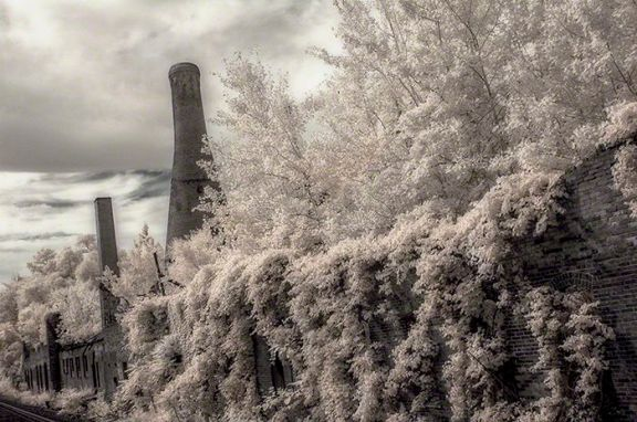 Westmorland Glass Factory – Infrared, Grapeville, Pennsylvania ©2014 Robert Marsala