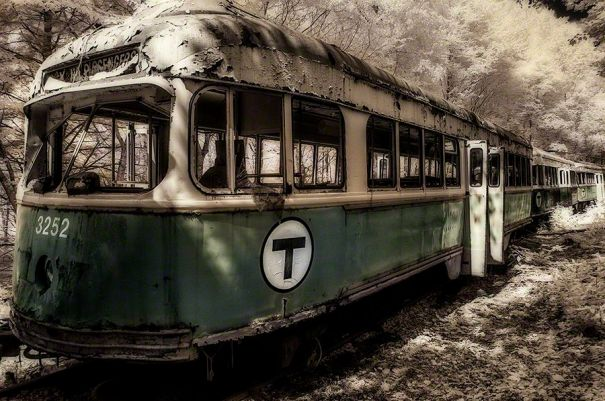 Trolley 3252 – Infrared w/tone, Western Pennsylvania ©2014 Robert Marsala