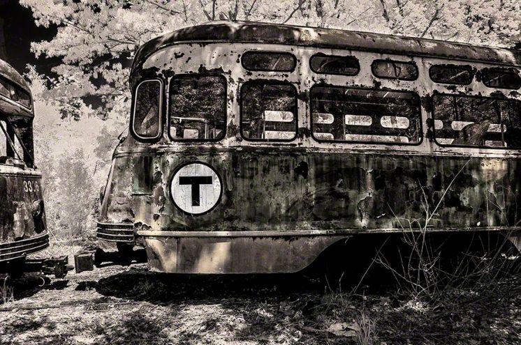 Boston Trolley 3309 - Infrared, Central Connecticut ©2014 Robert Marsala