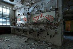 Sinks - Seaside Sanatorium, Waterford, Connecticut ©2014 Robert Marsala