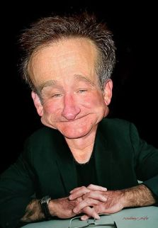∫ Robin Williams. A caricature commissioned by the image company Corbis for a story on Robin Williams' life © Rodney Pike.