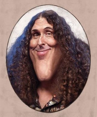 ∫ My painting of Weird Al for the Adobe max conference. ...It was so great to meet him and hang a bit and seriously cool to share the stage with him. © Rodney Pike.