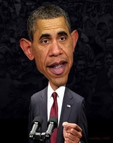 ∫ Another Barack Obama Caricature Study © Rodney Pike.