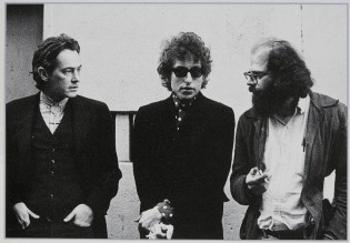 ∫ Larry Kennan, (1943-2012) (Robertson), Mclure, Dylan, Ginsberg at North Beach San Francisco, 1965. (Photo Credit The Allen Ginsberg Project)