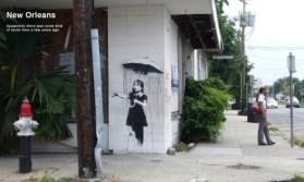∫ Banksy Rain Girl (Courtesty Northern Lights MN)
