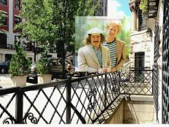 7 East 94th Street, NYC (How did I find it? Art's website said it was taken near the front of Paul's townhouse. I found that Paul used to live in Andre Segovia's townhouse (he was a famous guitar player). I looked Andre up in a 1962 phone book and 7 East 94th was listed for Andreas Segovia. Notice the matching silver fence knob in Paul's hand.) © Bob Egan