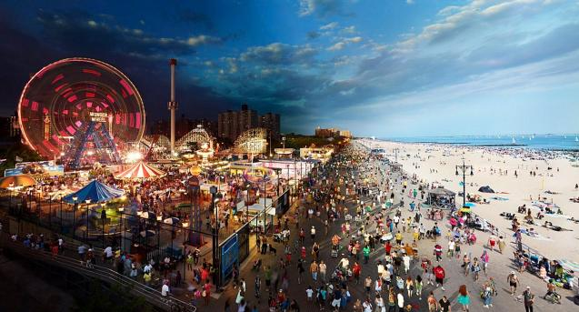 Coney Island Boardwalk New York © Stephen Wilkes