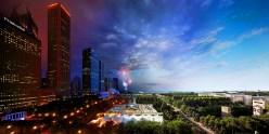 Millennium Park, Chicago © Stephen Wilkes
