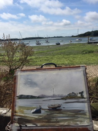 Painting at Dell Quay, near Chichester