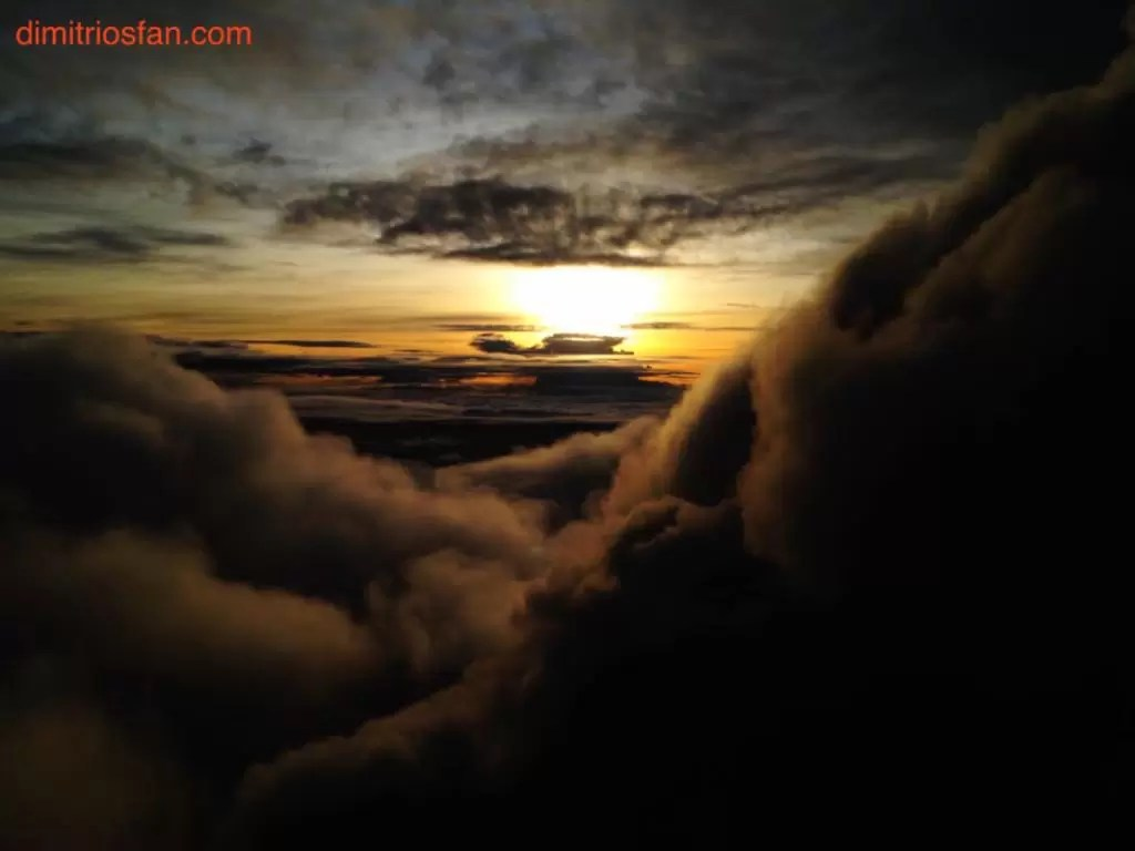 Sunrise from the crater from the crater of mount kerinci