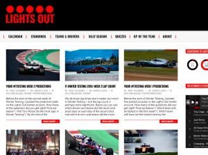 Top F1 Blogs - Lights Out