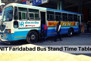 NIT Faridabad Bus Stand Time Table