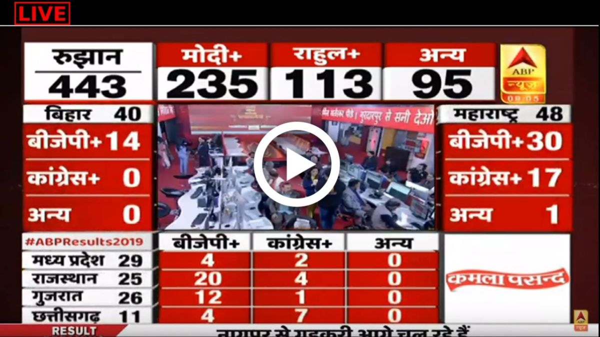 Watch Election Live 2019: Lok Sabha Election 2019 Results LIVE