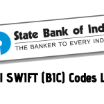 SBI (State Bank Of India) All Swift (BIC) Codes Updated