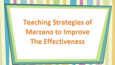 Photo of Teaching Strategies of Marzano to Improve The Effectiveness