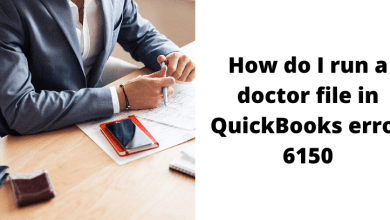 Photo of How do I run a doctor file in QuickBooks error 6150