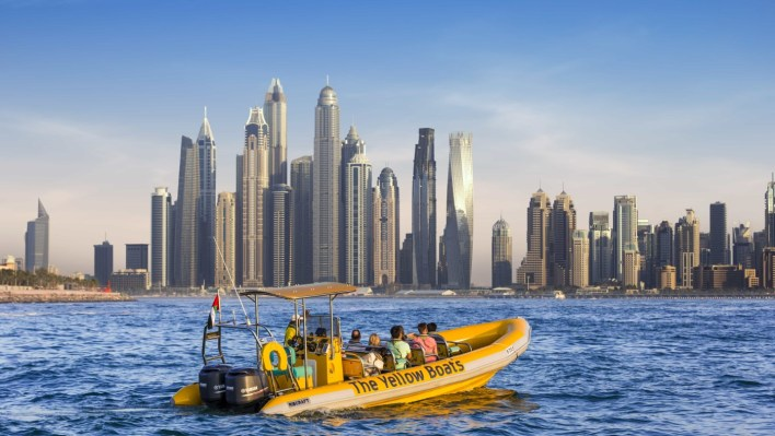 Arrival Dubai and Evening Yellow boat tour