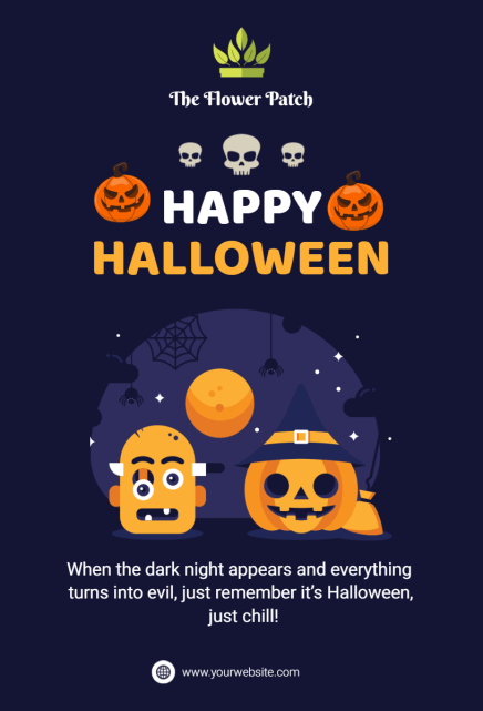 halloween greeting card template