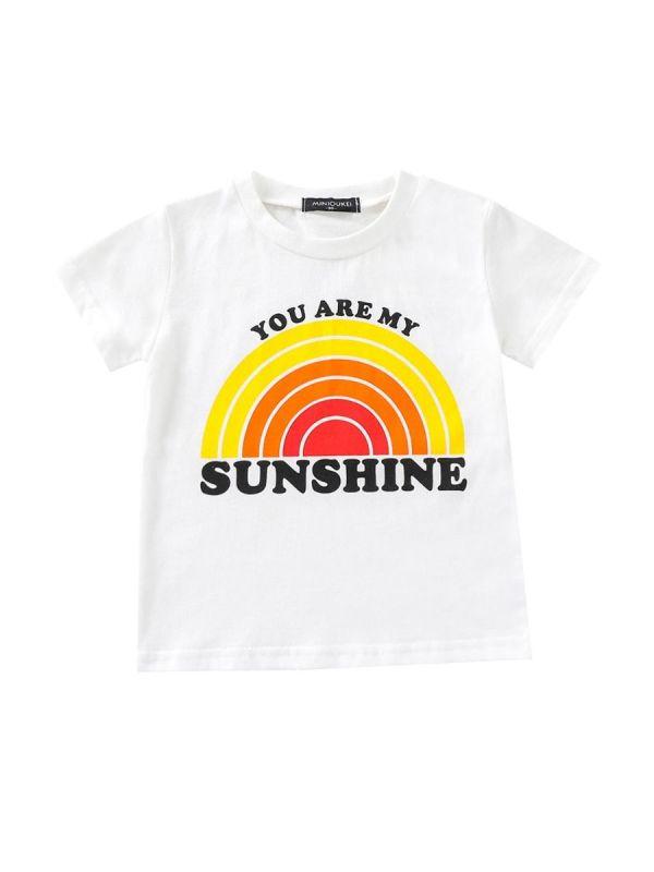 You Are My Sunshine Rainbow Print T-shirt
