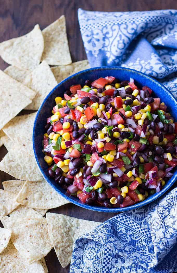 Black Bean Salsa Recipe via The Blond Cook