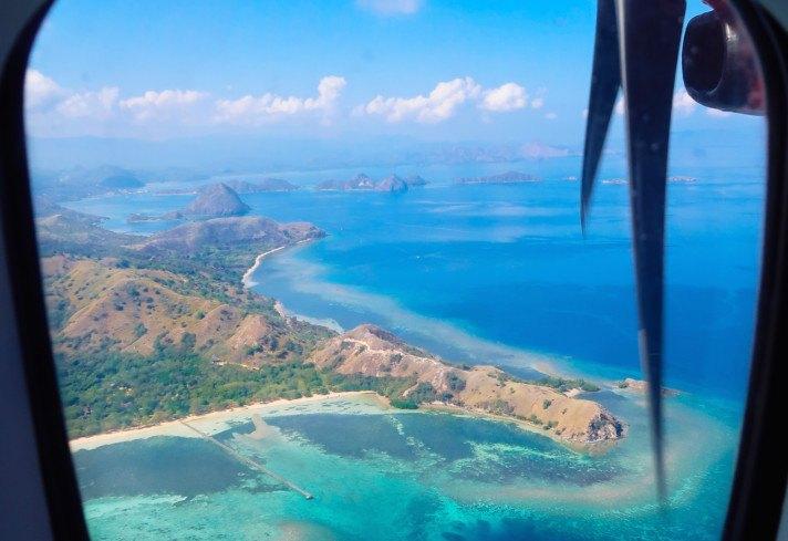 Flight into Indonesia