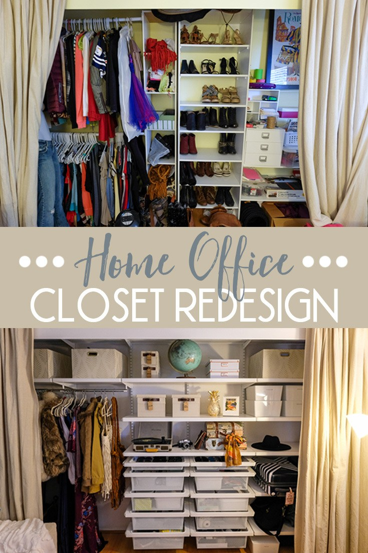 Home Office Closet Redesign With The Container Store