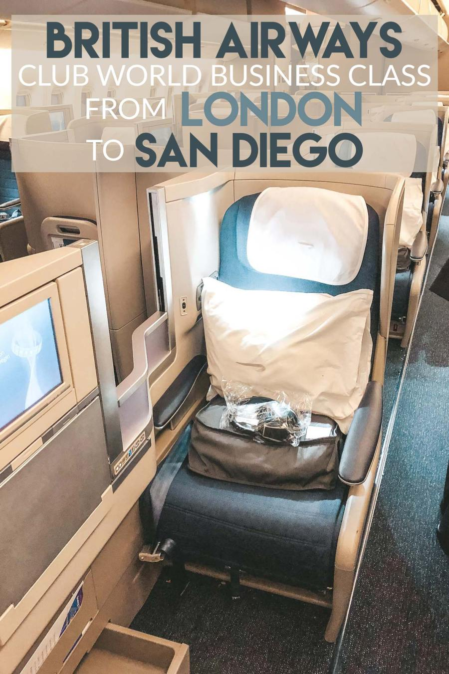 British Airways Club World Business Class from London to San Diego