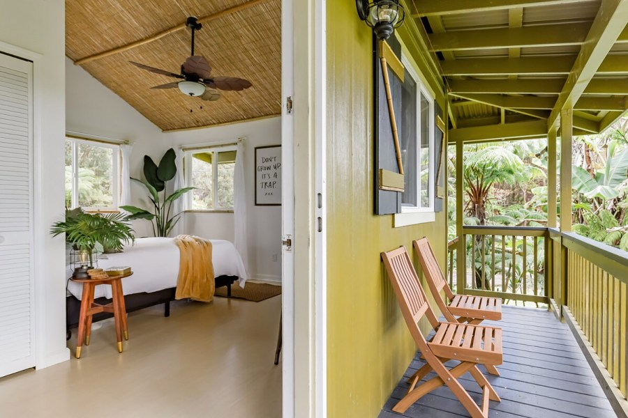 Tiny Tropical Tree House in Volcano Rain Forest Airbnb Hawaii