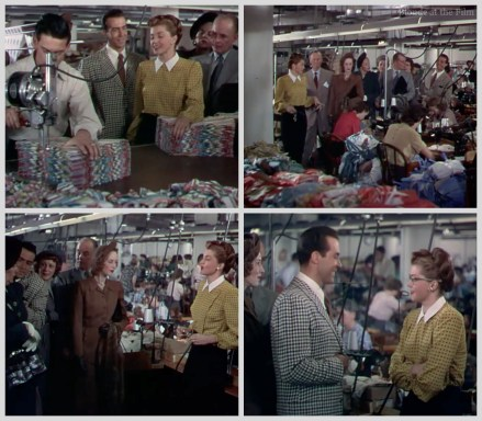 Esther Williams leads a tour of her swimsuit factory in Neptune's Daughter