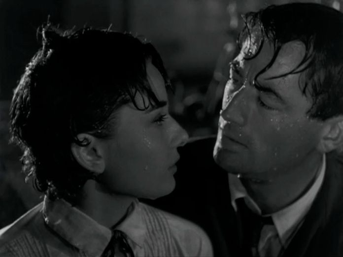 Roman Holiday Audrey Hepburn G Peck after fight4