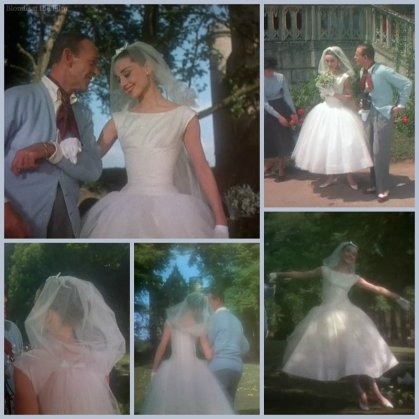 Funny Face Hepburn wedding dress