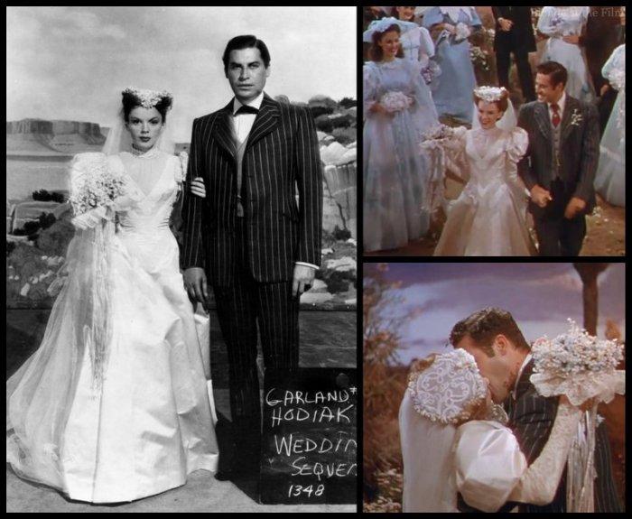 Harvey Girls Garland Wedding Dress The Blonde At The Film