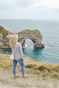 Dorset Jurassic Coast   coastline with beach and shore Durdle Door