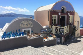 Boutique shops in Oia.