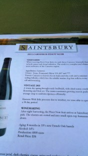 I enjoyed Saintsbury, a little shy of expectations but very nice.