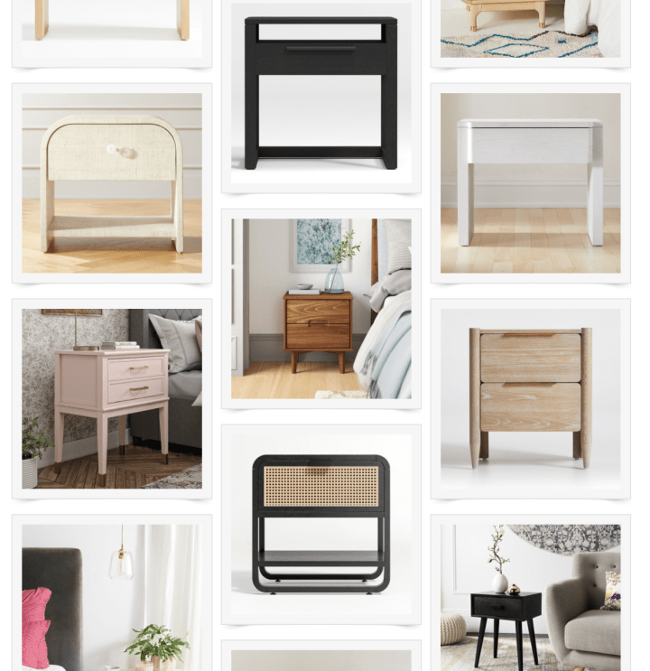 Cute Nightstands to Add Interest to Your Bedroom