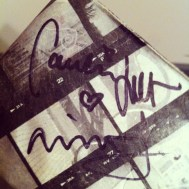 The signatures of Icona Pop on my wallet.