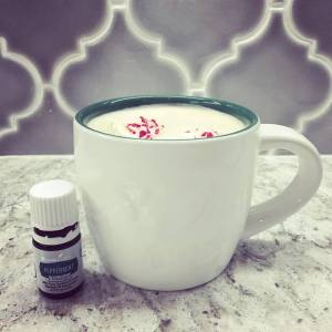 Peppermint Coffee Creamer Recipe | The Blooming Carrot