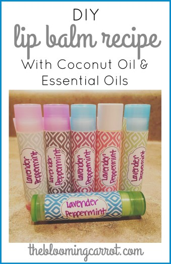 DIY Coconut Oil Lip Balm - Infused with Essential Oils | The Blooming Carrot